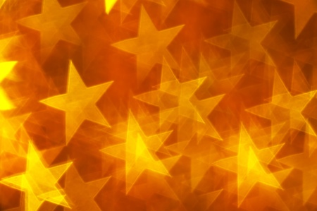 yellow stars bokeh as background photo