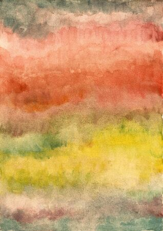 yellow  ochre: Abstract red and yellow background from watercolor