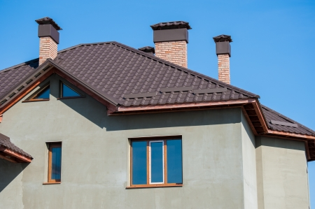 stucco facade: building a new home and roof