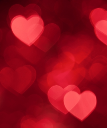 red hearts bokeh background photo
