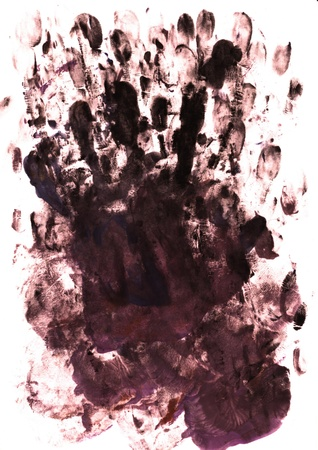 perfect fit: palm and finger prints as background