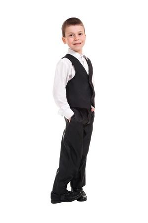 scruple: boy in black costume Stock Photo