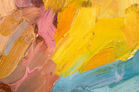 parget: Abstract colorful background oil painting on canvas. Stock Photo