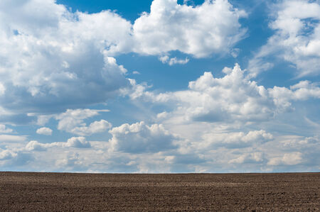 arable land: Arable land and cloudy sky