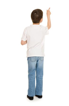 boy portrait in studio on white Stock Photo
