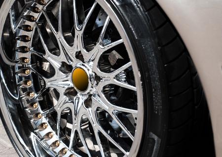 decorative car wheel photo