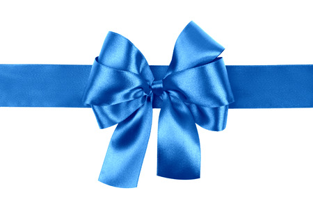 blue bow photo made from silk