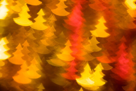 yellow and red fir trees shape photo as background photo