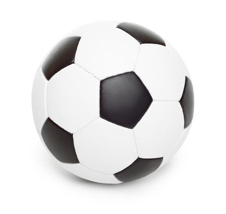 pelota de futbol: objeto bal�n de f�tbol aislado en blanco Foto de archivo