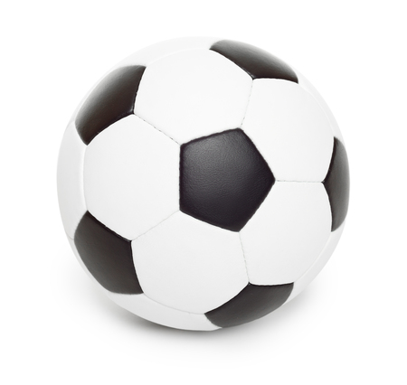 leather ball: soccer ball object isolated on white Stock Photo