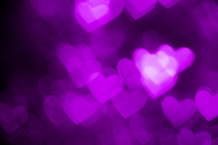 purple heart shape holiday photo background