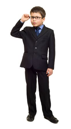 business suit: boy in suit Stock Photo