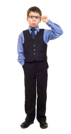perplexity: boy in suit Stock Photo