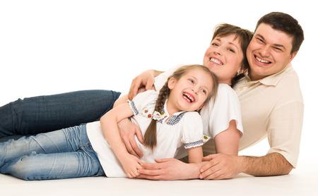studio portrait: happy family in studio