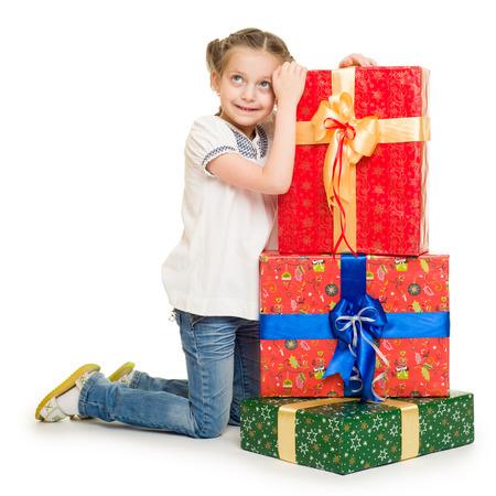 girl with gift box photo