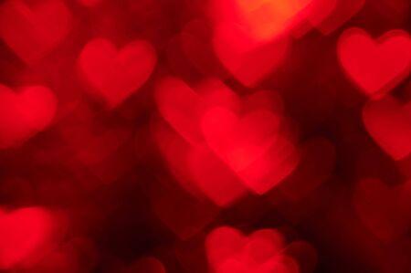 burnish: red heart shape holiday photo as background Stock Photo
