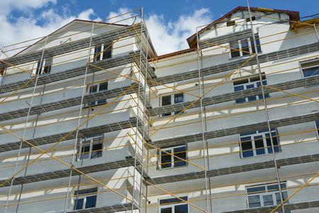 andamio: reparación de la construcción de edificios andamios casa