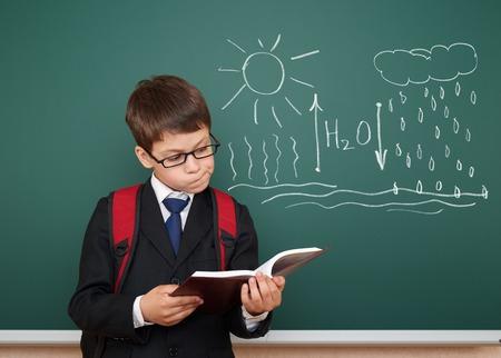 circulation: school boy read book about circulation of water