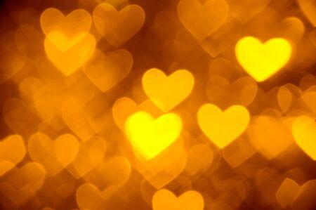 ornage: heart background photo golden color