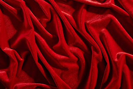 red velvet textile for background or texture