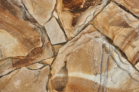 decorative stone wall for background or texture Stock Photo