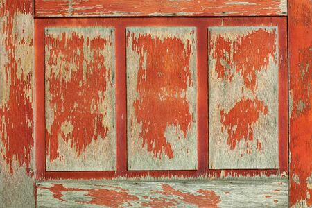 old wooden door of red color for texture or background