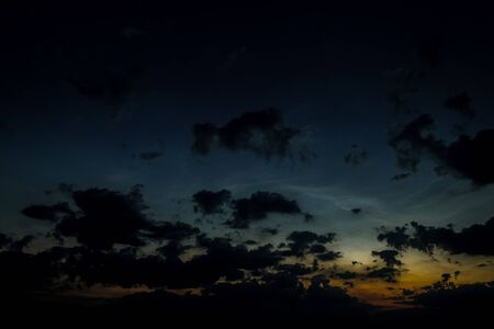 Dark sky with clouds at sunset