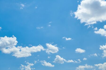 Bright beautiful blue sky with clouds for background or texture 免版税图像