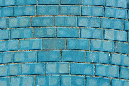 blue paving tile for background or texture