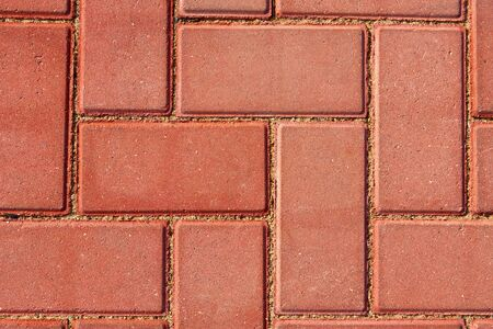 brown paving tile for background or texture