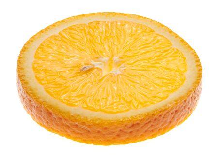Fresh sliced orange fruit isolated on white background