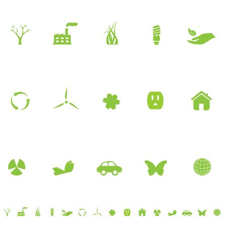 一般的なエコ記号アイコンは緑に設定