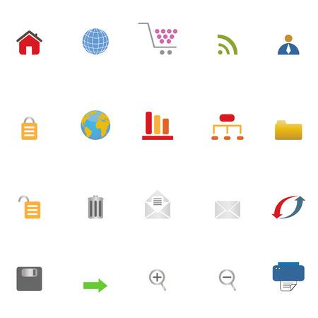 Internet related symbols icon set Stock Vector - 6470109