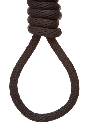 capital punishment: Black hanging rope