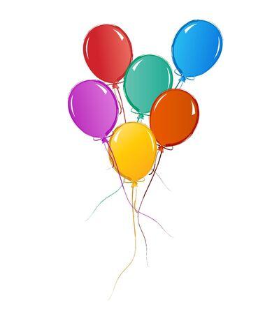 誕生日やお祝いのためのカラフルな風船 写真素材