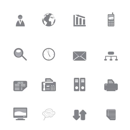 Silhouette set of various business icons or symbols Stock Photo - 6559457