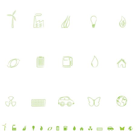 General environmental symbols icon set Stock Photo - 6559439