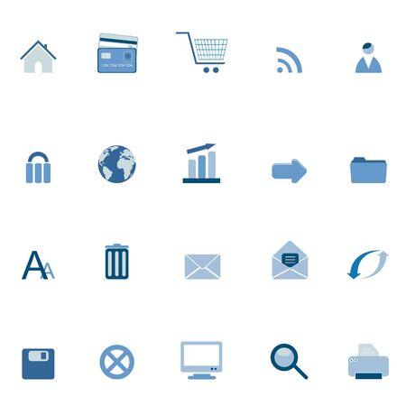 Internet and web symbols icon set Stock Photo - 6559459