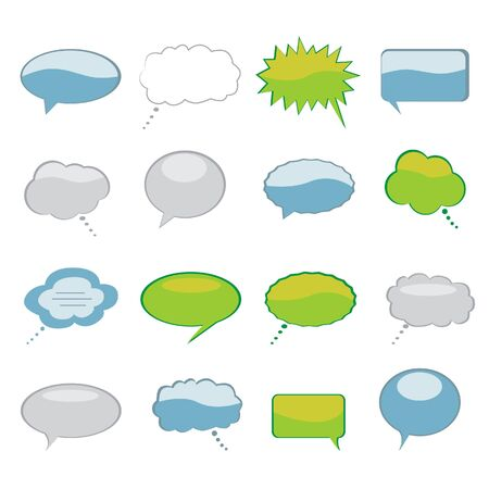 Various speech and thought bubbles set