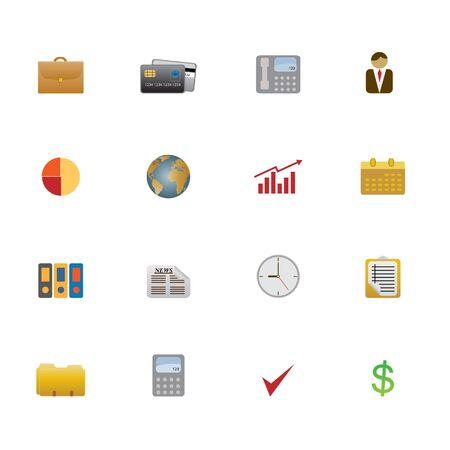 Business objects and symbols as icon set Zdjęcie Seryjne