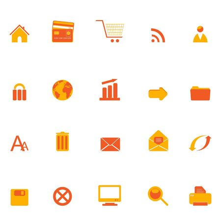 Various internet, web and e-commerce related icons Stock Photo - 6668837