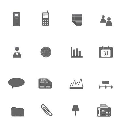 Verschiedene Business-Symbole in silhouette  Standard-Bild - 6669385