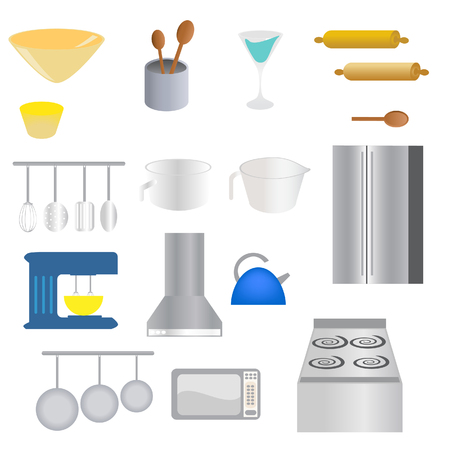 measuring spoon: Various kitchen supplies and utensils
