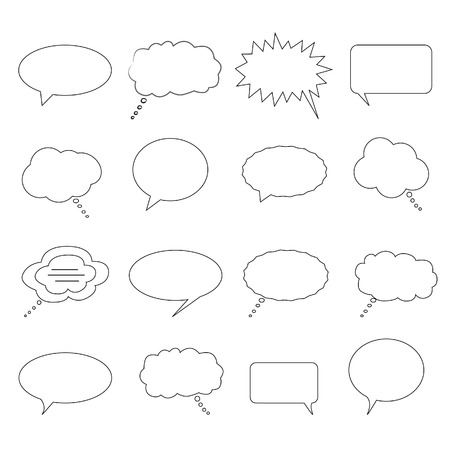 burbujas de pensamiento: Burbujas de discurso, el di�logo y el pensamiento Vectores