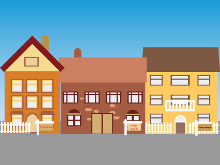 Foreclosed homes and homes for sale Vector