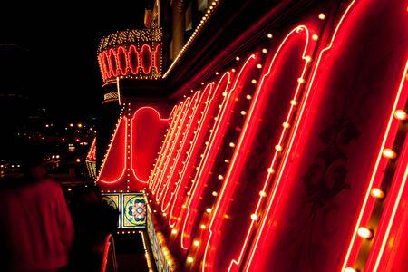 las vegas sign: Bright shiny neon lights