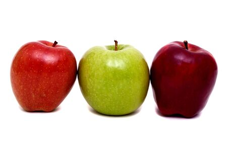 Colorful apples for healthy eating