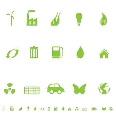 industry: Environmental and ecological symbols icon set