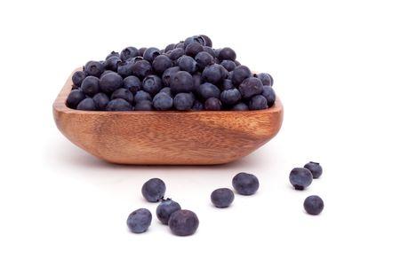 Bowl of blueberries on white background Stok Fotoğraf - 6797796