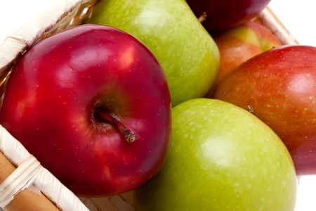 keywords: Colorful apples for healthy eating